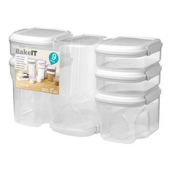 Sistema Bake It 9-pack bage sæt - transparent