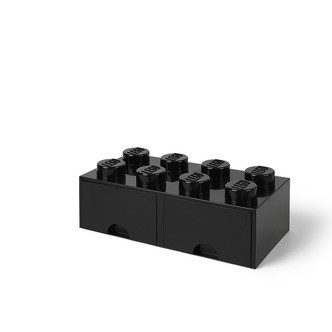 LEGO Storage LEGO Opbevaringsskuffe Brick 8 - Sort