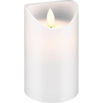 Pro LED white real wax candle 7.5 x 12.5 cm
