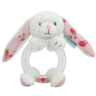 Little Dutch Ring rattle rabbit, Pink blossom