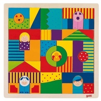 Wooden Farm puzzle, 43dlg.
