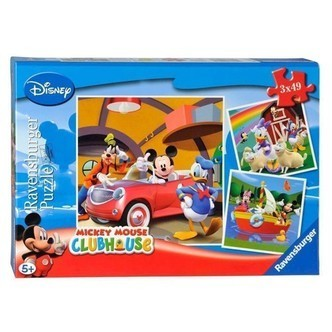 Ravensburger puslespil Mickey Mouse, 3x49st.