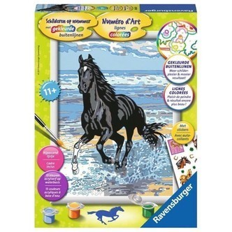 Ravensburger Painting by numbers-Horse in the surf