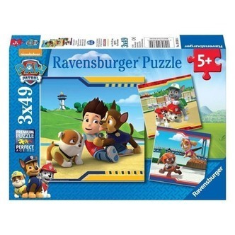 Ravensburger puslespil Paw Patrol heroes with fur, 3x49st.