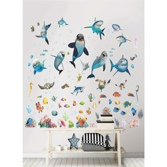 Sea Adventure Under Havet Wallstickers