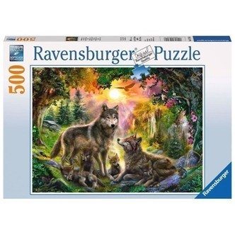 Ravensburger puslespil Wolves in the Sunlight, 500st.