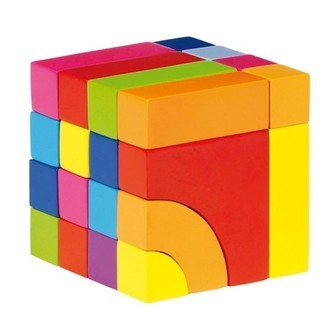 Wooden block-and jigsaw puzzle-Color