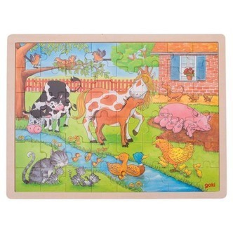 Wooden Puzzle - On the Farm, 48pcs.