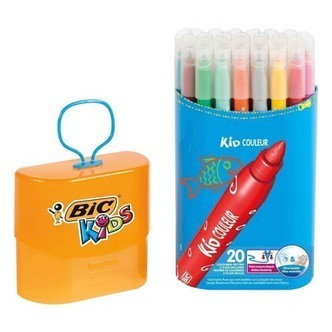 BIC - Kids, Tusser/Tuscher, Durable Pack, 20 stk