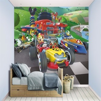 Mickey Mouse Roadster Racer Tapet 243X305Cm