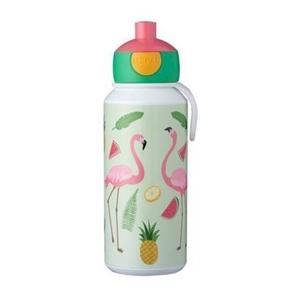 Rosti Mepal Pop-up Tropical Flamingo Drikkeflaske 400 ml