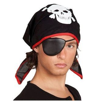 Pirate bandana with eye flap for children