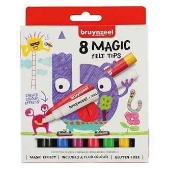Bruynzeel Kids Magic Markers, 8 stk