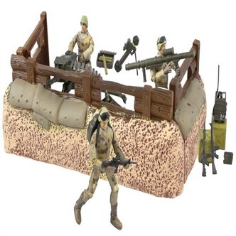 Worldpeace Keepers 1:18 Militær Forsvarsenhed Inkl 3 Actionfigurer