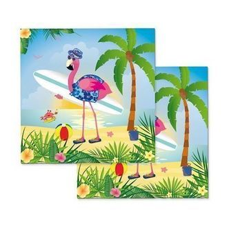 Servietter flamingo 20 stk