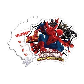 Spiderman invitations, 6pcs.