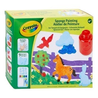 Crayola Craft Set mal med svamp