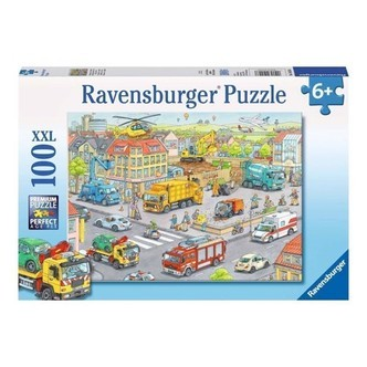 Ravensburger puslespil Vehicles in the city, 100pcs. XXL
