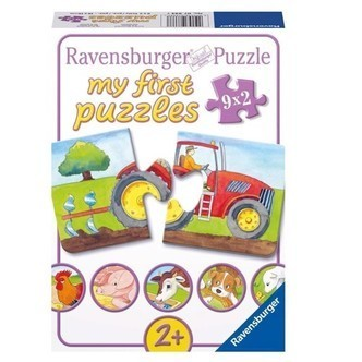 Ravensburger puslespil On the farm, 9x2st.