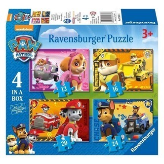 Ravensburger Paw Patrol Puppies on Path puslespil, 4 in 1