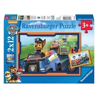 Ravensburger puslespil Paw Patrol in action, 2x12st.