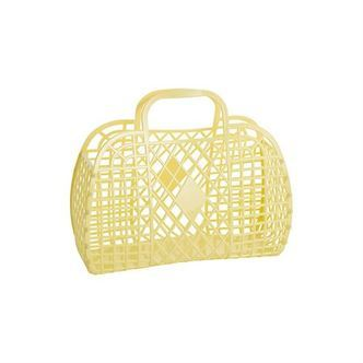 Sun Jellies Retro Basket LARGE - Yellow