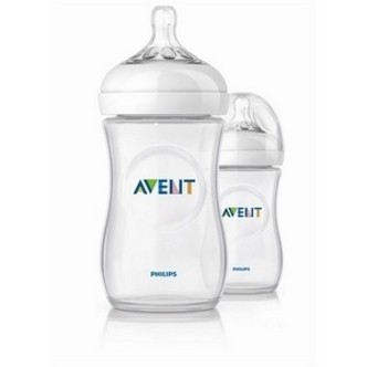 Avent sutteflasker PP 260 ml., BPA fri, Natural, 2 pak
