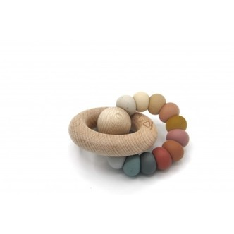 The Cotton Cloud, Round Teether, Natural