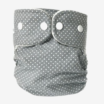WeeCare cover til ble  - Dots Dusty Blue - Medium