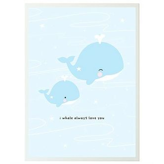 Plakat fra A Little Lovely Company - I Whale Always Love You (50x70)