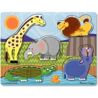 Puslespil Touch and Feel fra Melissa & Doug - ZOO
