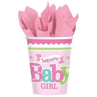 Papkrus - Welcome Baby Girl (8 stk)