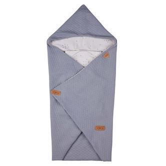 Baby Wrap fra Voksi - Quilted Light Grey Star