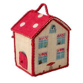 Kurv fra Rice - Mini hus - Kids Bag in House Shape