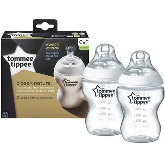 Sutteflaske fra Tommee Tippee - Closer to Nature 0m+ (2x260ml)