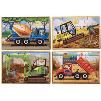 Puslespil In a Box fra Melissa & Doug (4 stk) - Construction