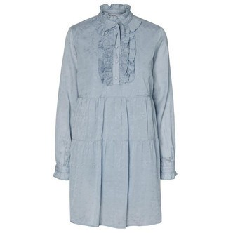 Dusty Blue VMLY LS DRESS 10228925 fra Vero Moda