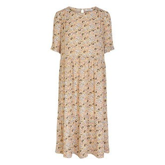 Warm Sand DITSY FLOWERS PCWONDA SS MIDI DRESS D2D 17109927 fra Pieces