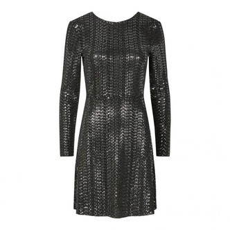 Black SILVER SEQUINS PCJIDDY LS DEEP BACK DRESS 17100293 fra Pieces
