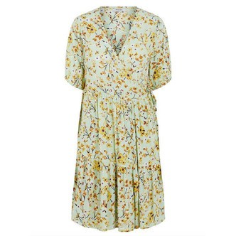 Pastel Green MULTI FLOWERS PCSUNNY SS WRAP DRESS D2D 17109738 fra Pieces