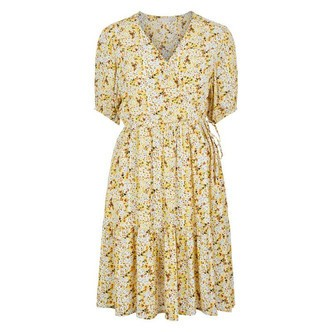 Popcorn SMALL FLOWERS PCSUNNY SS WRAP DRESS D2D 17109738 fra Pieces