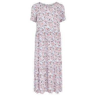 Kentucky Blue FLOWERS PCSUNNY SS MIDI DRESS D2D 17110810 fra Pieces