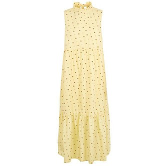 Popcorn VARIOUS DOTS PCANAIS SL ANKLE DRESS 17103838 fra Pieces