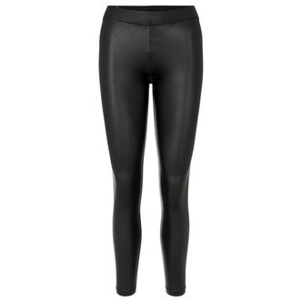 Black CP PCNEW SHINY SLIT LEGGINGS 17109428 fra Pieces
