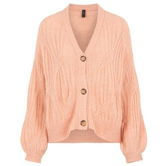 Coral Pink YASPIXIE KNIT CARDIGAN 26018597 fra YAS