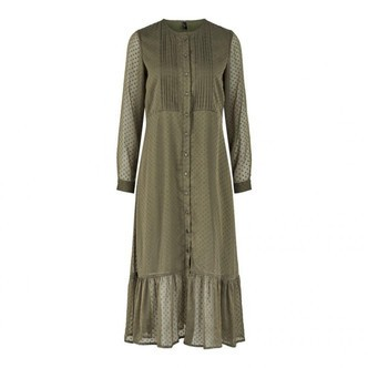 Olive Night YASELLA LS LONG DRESS 26019493 fra YAS