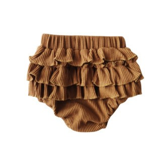 Ruffly Bloomers | Camel