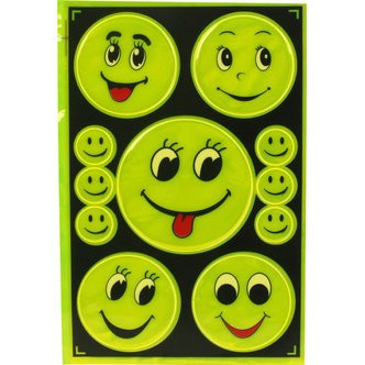 Refleks-stickers, smiley