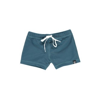 Beach & Bandits UV-badebukser - Ocean ribbed pacific blue