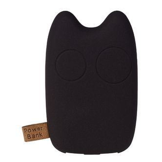 GreyLime powerbank Power Owl, 7800 mAh, Sortbrun